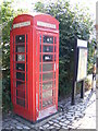 TM2494 : Hempnall Telephone Box & Village Notice Board by Adrian Cable
