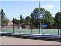 TM2494 : Hempnall Tennis Courts by Adrian Cable