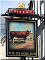 SU1429 : The Ox Row Inn sign by Oast House Archive