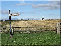 NZ2118 : Stubble field near Denton by Trevor Littlewood