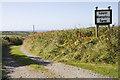 SW3829 : Access to Lower Numphra Farm by Elizabeth Scott