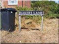 TM3491 : Bakers Lane sign by Adrian Cable