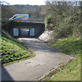 SP0466 : Subway leading to a footbridge, Lodge Park, Redditch by Robin Stott