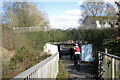 SP0466 : Path over Alvechurch Highway into Lodge Park, Redditch by Robin Stott