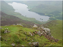 NY1618 : Crummock Water from Red Pike by Peter S