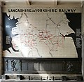 SJ8398 : Map of the Lancashire and Yorkshire Railway by Gerald England