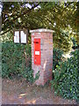 TM3395 : The Church Victorian Postbox by Adrian Cable