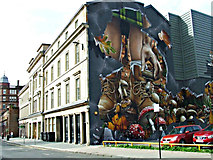 NS5965 : City Halls graffiti style mural by Thomas Nugent
