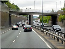 TQ4375 : Glenesk Road Bridge over the A2 at Eltham by David Dixon