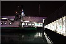 SZ6299 : Gosport ferry pier by night by David Martin