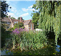 SP4900 : Sunningwell Pond and School by Des Blenkinsopp