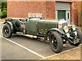 SD6909 : Vintage Bentley Outside Bolton Steam Museum by David Dixon