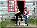 H4379 : Riflemen, Ulster American Folk Park by Kenneth  Allen