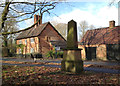 SP3276 : The Gregory obelisk, blacksmith's house and forge, Stivichall Croft by Robin Stott