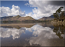 NY2622 : Catbells and Friars Crag by Chris Denny