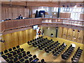 TR1557 : Interior of Canterbury Cathedral Lodge lecture theatre by David Hawgood