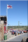 SW3526 : Lifeboat Day in Sennen Cove by Rod Allday