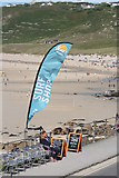 SW3526 : Surf Shop banner at Sennen Cove by Rod Allday