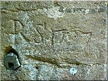 SO9700 : Graffiti, St Matthew's Church, Coates by Brian Robert Marshall
