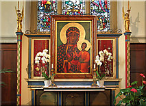 TQ2374 : St John the Evangelist, Putney - Reredos by John Salmon
