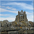 NZ9011 : Old stones, Whitby Abbey by Pauline E