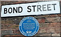 ST2937 : Bond Street blue plaque, Bridgwater by Jaggery