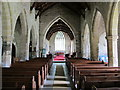 NY9393 : St. Cuthbert's Church, Elsdon - nave by Mike Quinn