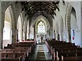 NY9393 : St. Cuthbert's Church, Elsdon - nave (2) by Mike Quinn