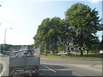 TL0807 : Roundabout at the junction of Leverstock Green Road and the A414 by David Howard