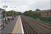 SD4364 : Platform 2, Morecambe Railway Station by Mark Anderson
