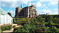 TQ0107 : Arundel Castle gardens and Arundel Cathedral by Malc McDonald