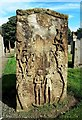 NS3724 : An Adam & Eve Headstone in St Quivox Churchyard by Mary and Angus Hogg