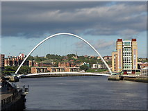 NZ2563 : Millennium Bridge, Gateshead and Baltic Arts Centre by Gareth James