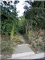 SP9843 : Footpath off the Bedford Road by Philip Jeffrey