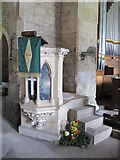 NY9393 : St. Cuthbert's Church, Elsdon - pulpit by Mike Quinn