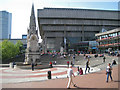 SP0686 : Chamberlain Square, Chamberlain Memorial and Central Library B3 by Robin Stott