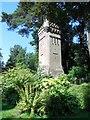 SZ0791 : Water Tower, Upper Gardens by Paul Gillett