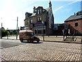 NZ2154 : Brewery  Van passing Herron's Bakery, Beamish Open Air Museum by Bill Henderson