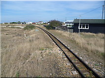 TR0916 : Track of the Romney, Hythe & Dymchurch Railway at Dungeness by Marathon