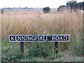 TM0883 : Kenninghall Road sign by Adrian Cable