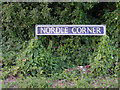 TM0883 : Nordle Corner sign by Adrian Cable