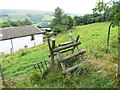 SE0127 : Stile on Hebden Royd FP25 above Wicken Hill by Humphrey Bolton