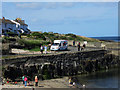 NU2520 : Ice cream van, Craster Harbour by Graham Robson