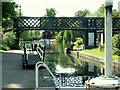 TL4459 : Jesus Lock and footbridge by Rose and Trev Clough