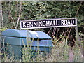 TM0783 : Kenninghall Road sign by Adrian Cable