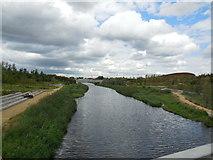 TQ3784 : River Lea, Stratford by Paul Gillett
