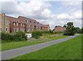 SK3731 : Housing alongside the Derby Canal path by Alan Murray-Rust