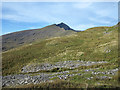 SH5951 : Mine spoil on slope of Yr Aran by Trevor Littlewood