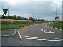 N3334 : Off-slip road from the east bound carriageway of the M6 by Eric Jones