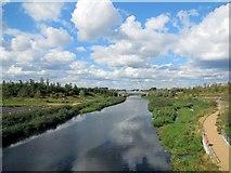TQ3784 : River Lea through Olympic Park by Paul Gillett